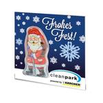 Premium Card with chocolate figure Santa Claus