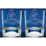 Pair Of Crystal Golf Tumblers