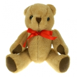 20cm Jointed Honey Bear