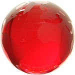 Red Tint Crystal Globe