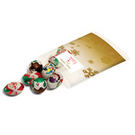 8 Christmas Chocolates Clear Bag Paper Label