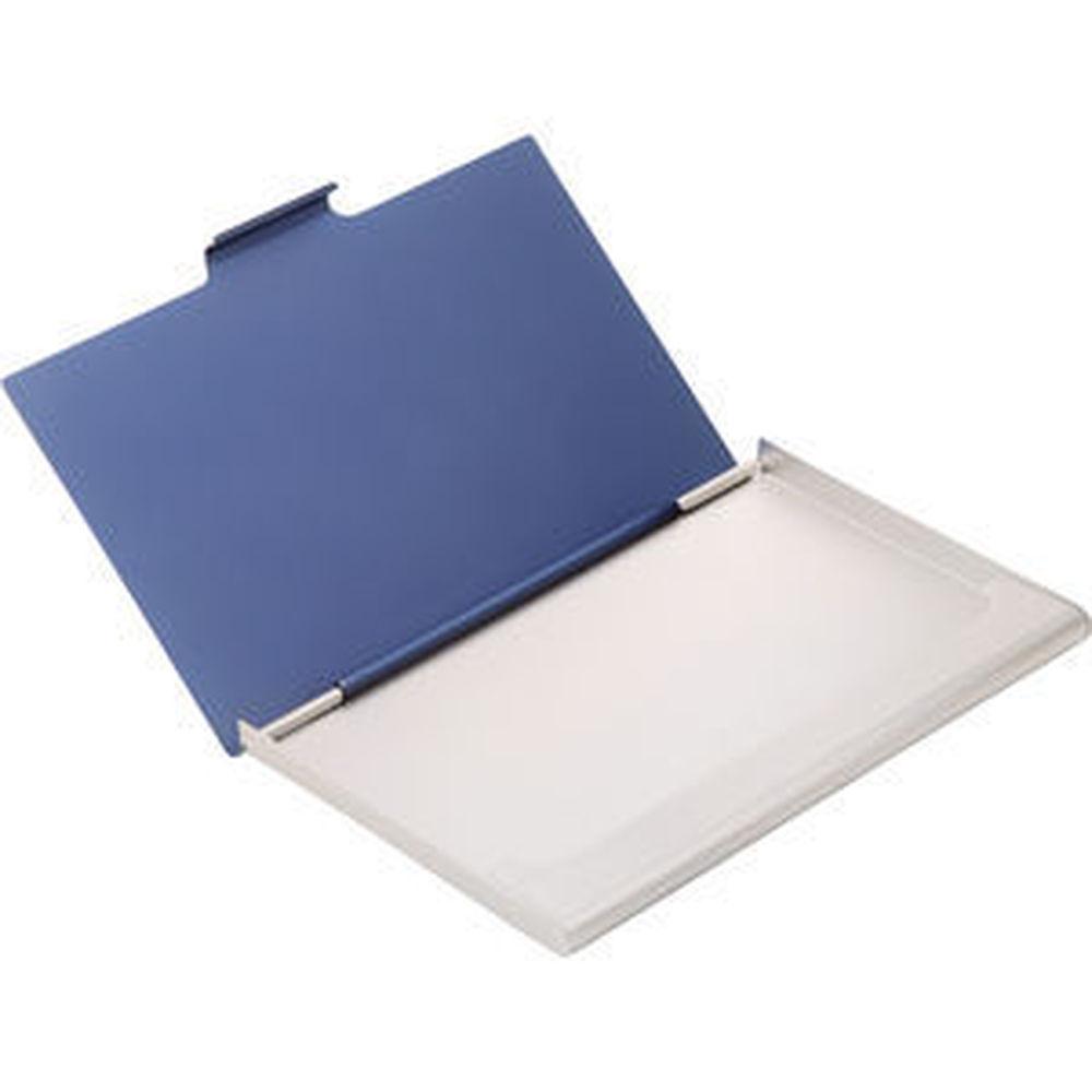 Brushed aluminium business card holder colourmoves