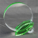 Crystal Circle With Green Crystal Stand