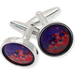 Deluxe Round Cufflinks In Windowed Presentation Tin