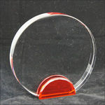 Large Crystal Circle With Red Base