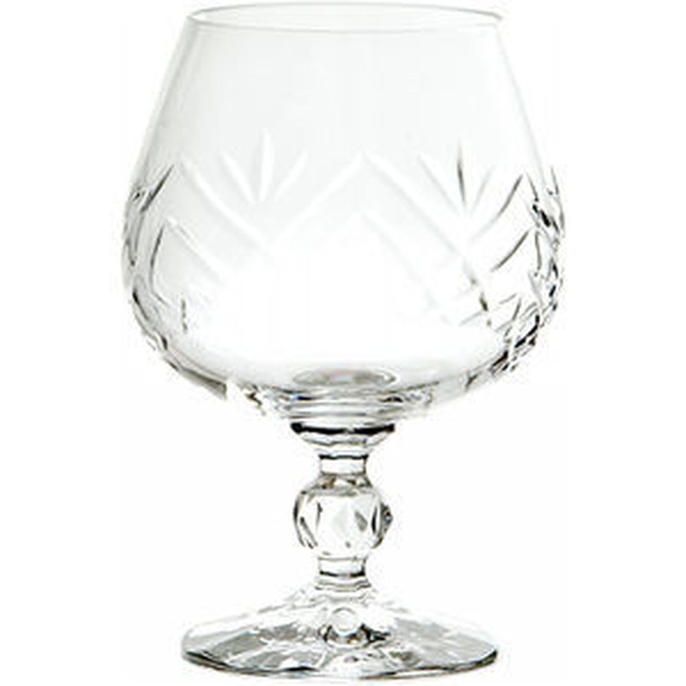 Cut Crystal Brandy Glass
