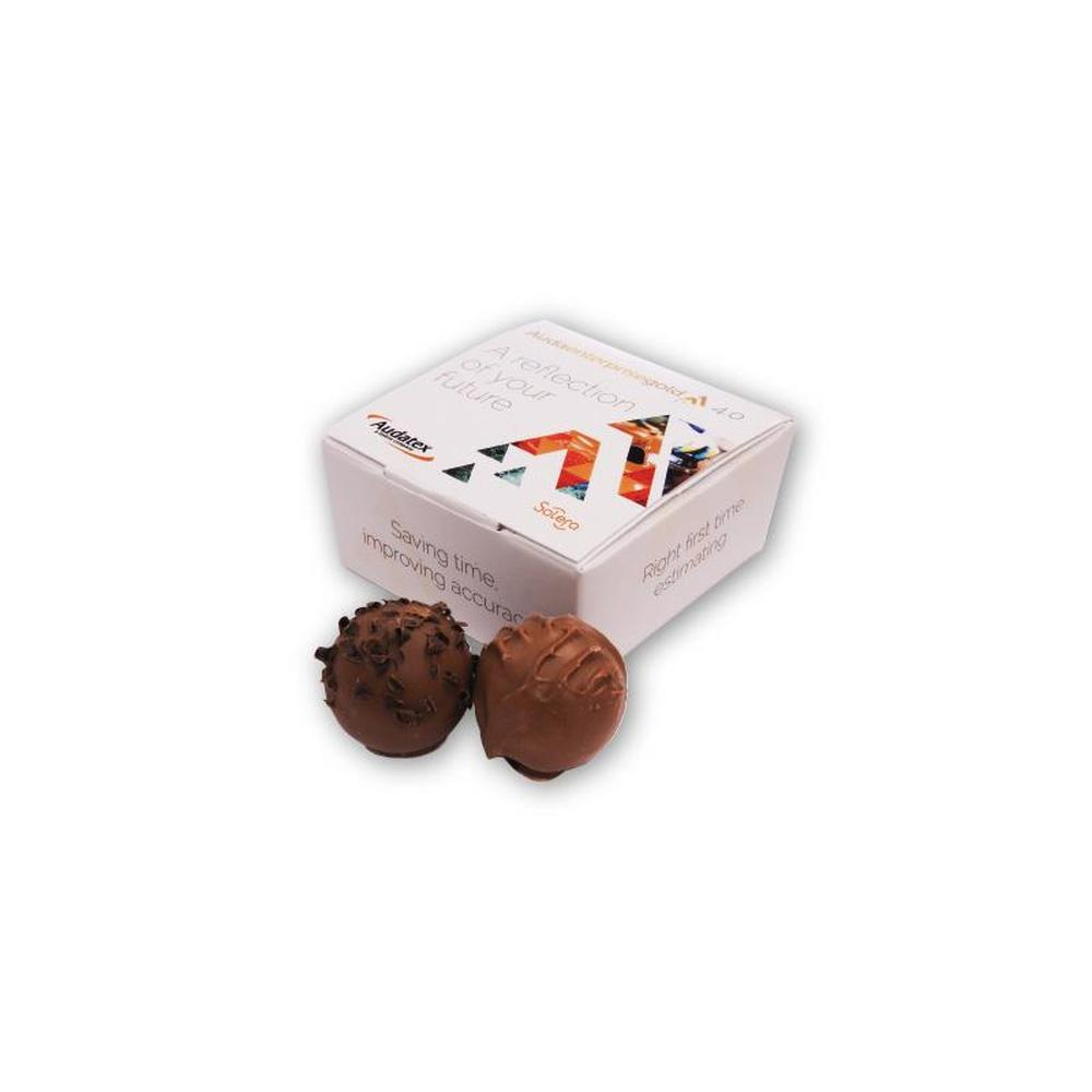4 Chocolate Truffle Ballotin Box