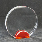 Medium Crystal Circle With Red Base