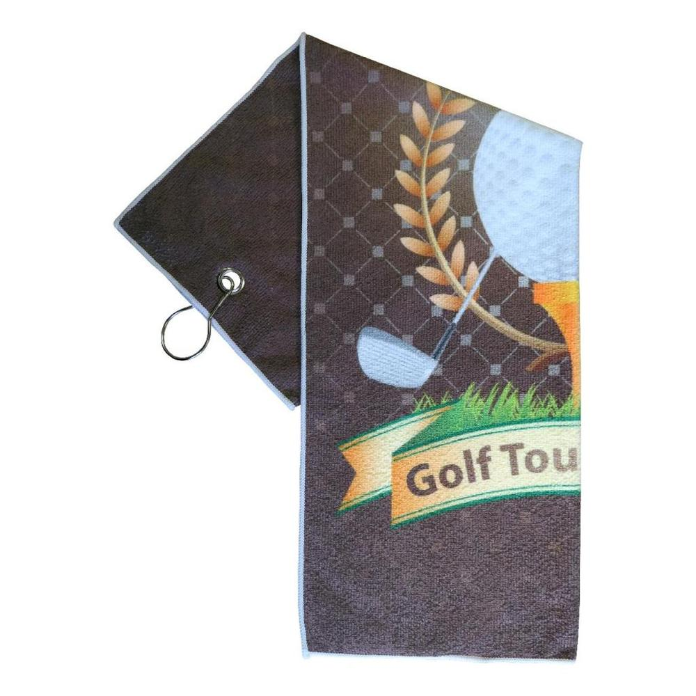 Printed Microfiber Golf Towel