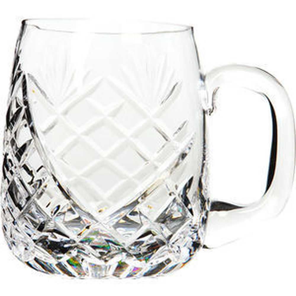 Cut Crystal Pint Barrel Tankard