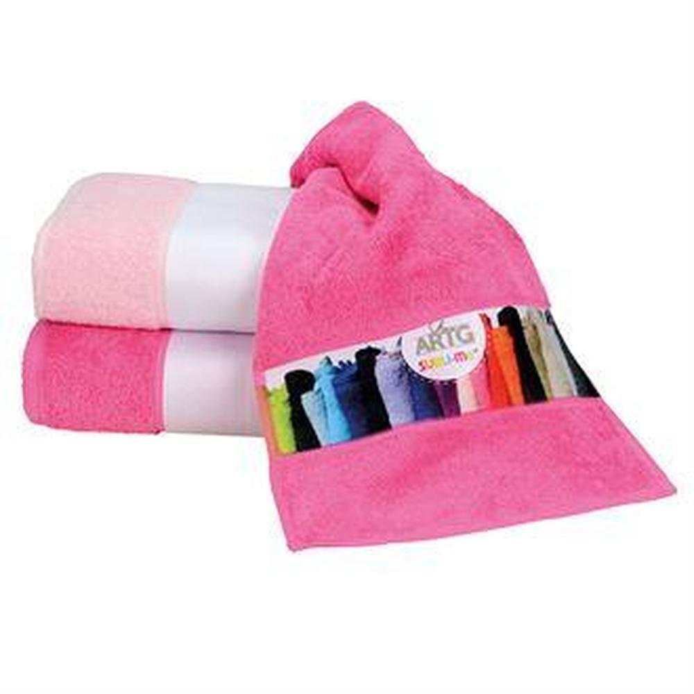 Colourful Towel with Printed Border