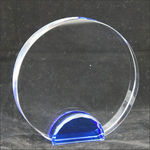 Medium Crystal Circle With Blue Base