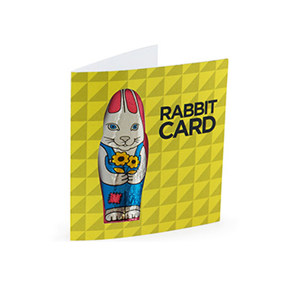 Promotional Easter Chocolate Rabbit Card