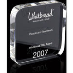 Large Crystal Square Award With Rounded Corners