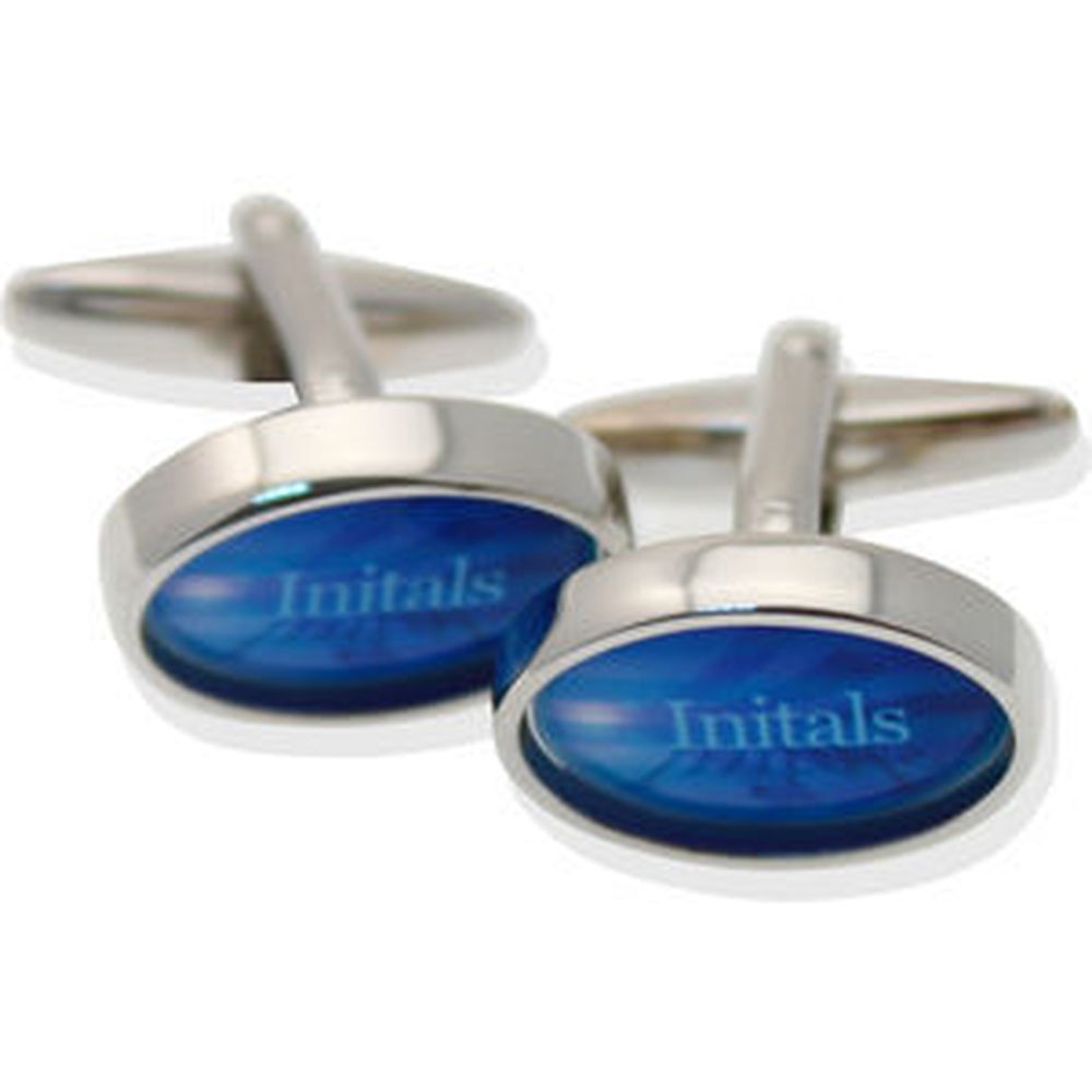 Deluxe Oval Cufflinks In Windowed Presentation Tin