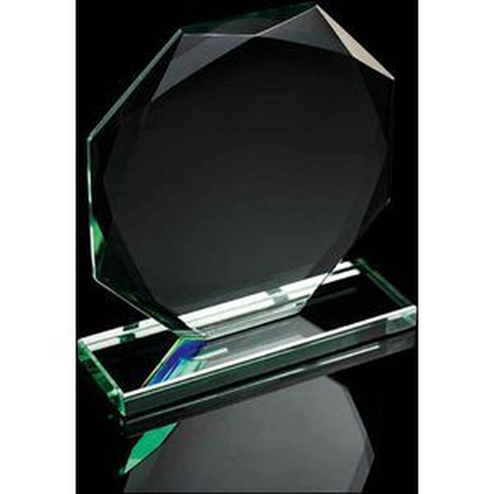 Budget Jade Green Octagan Award 120mm High